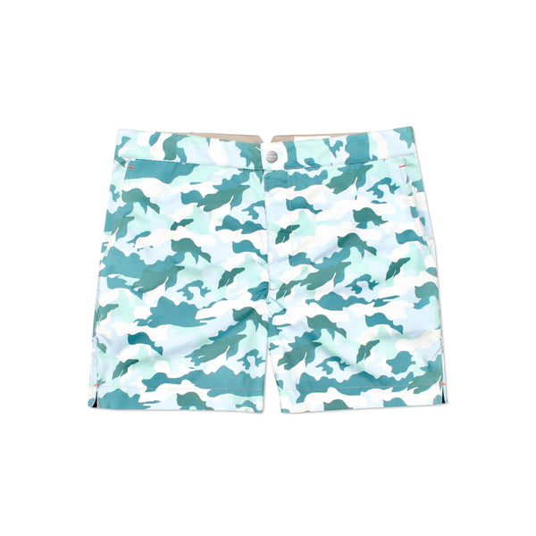 Huck 5 Camo Forest swim shorts