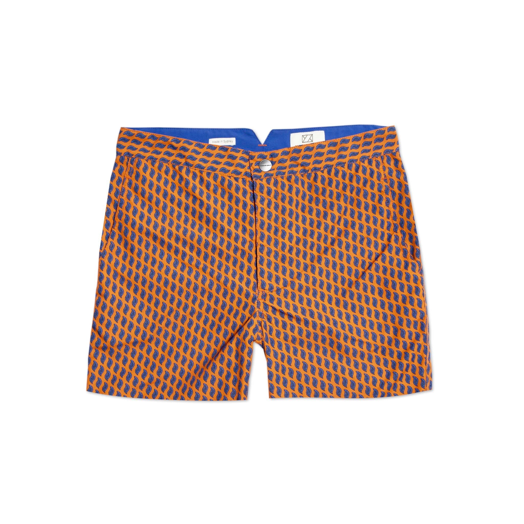 Huck 5 Seafern Orange swim shorts