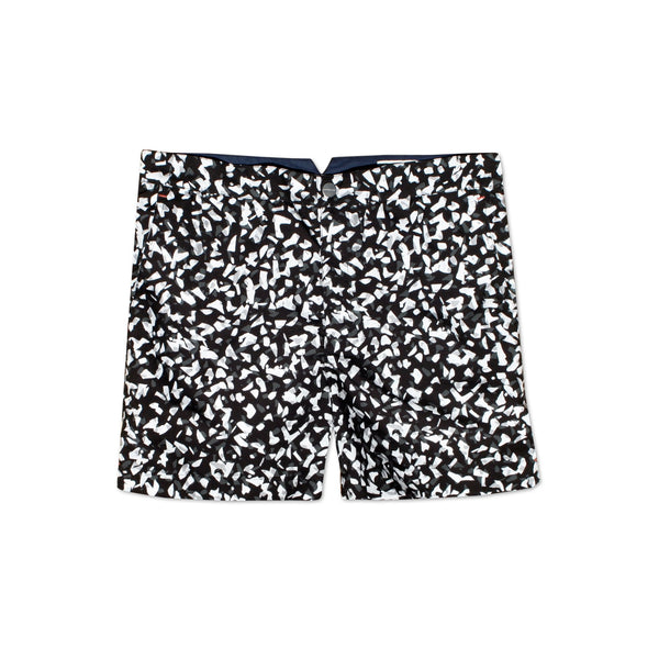 Huck 5 Shatter Black tailored swim shorts