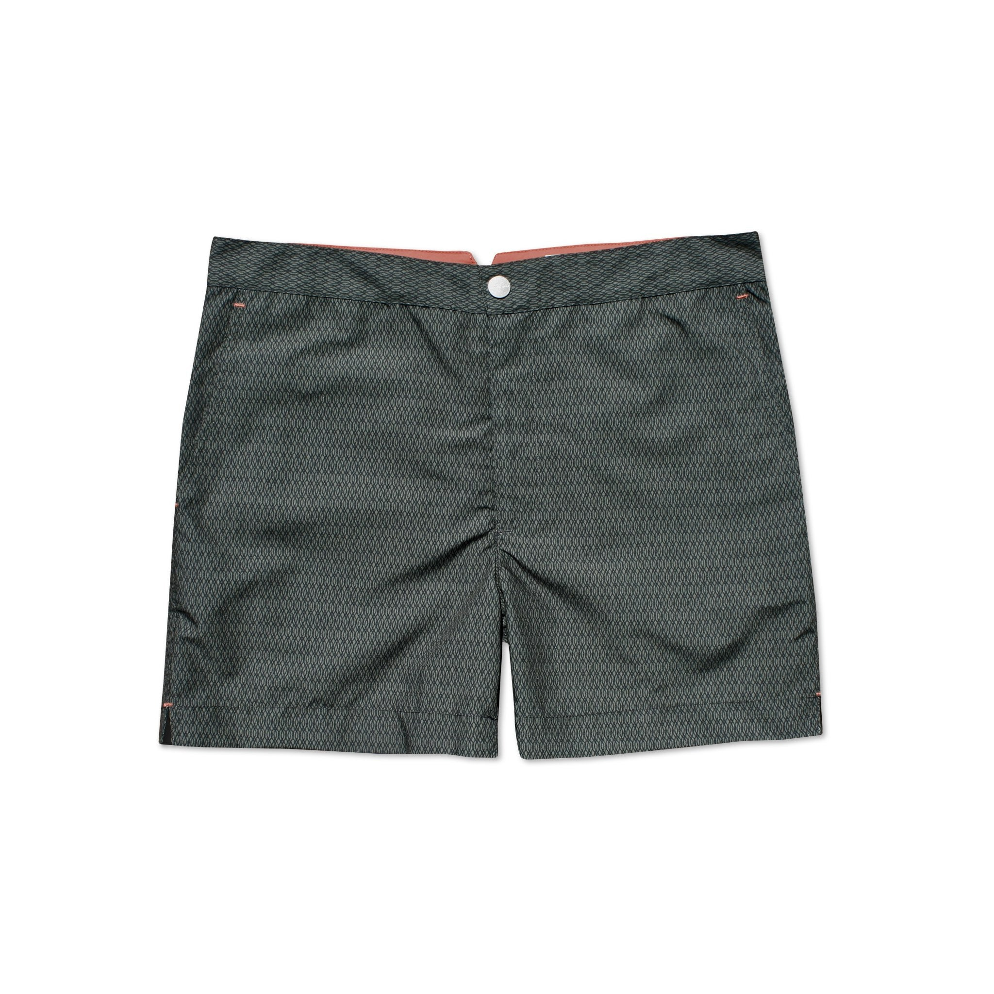 Huck 5 Undertow Charcoal swim shorts