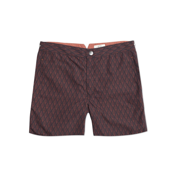 Huck 5 Whalebone Red swim shorts