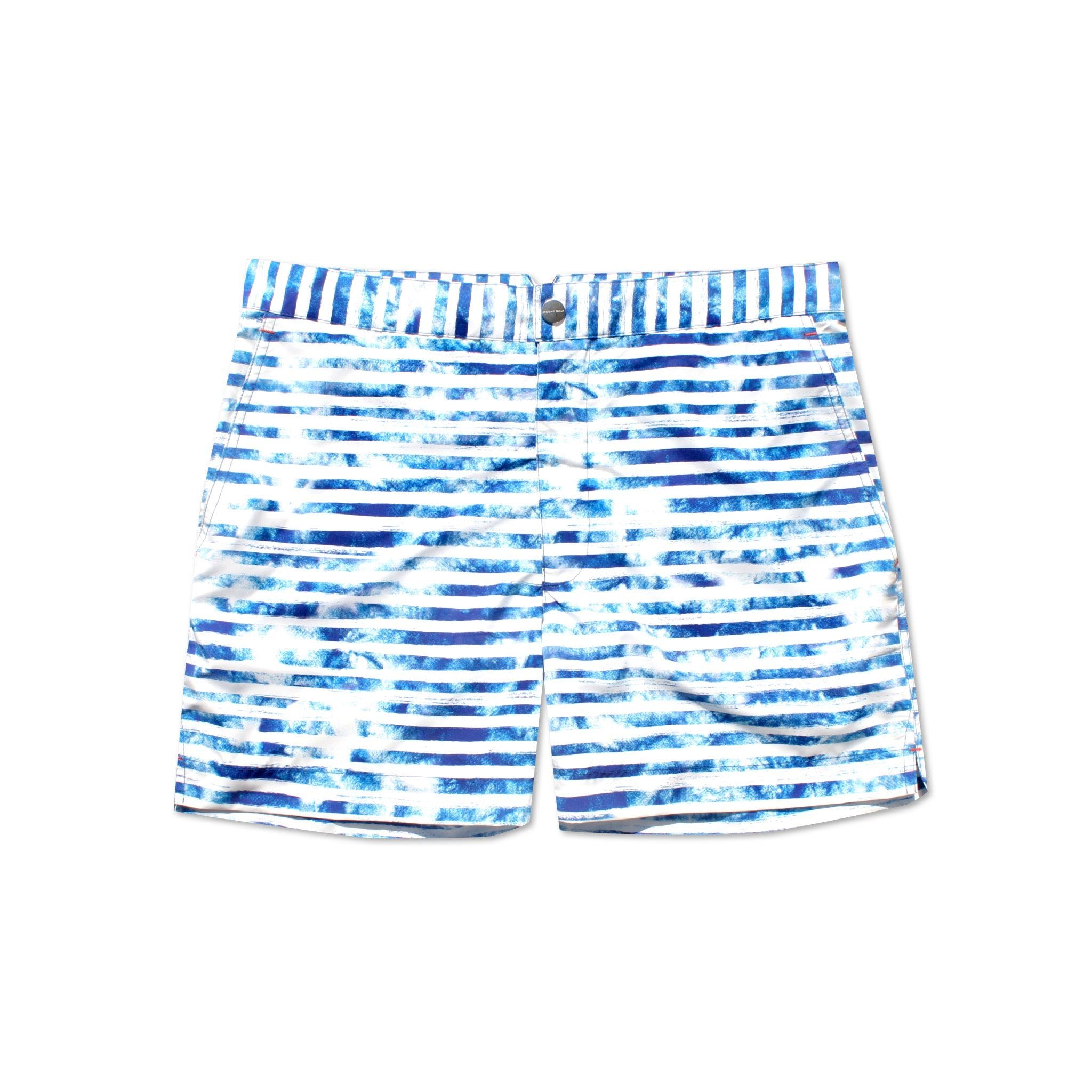 H5 White Stripe swim shorts