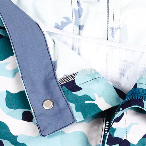Huck 5 Camo Marine swim shorts detail