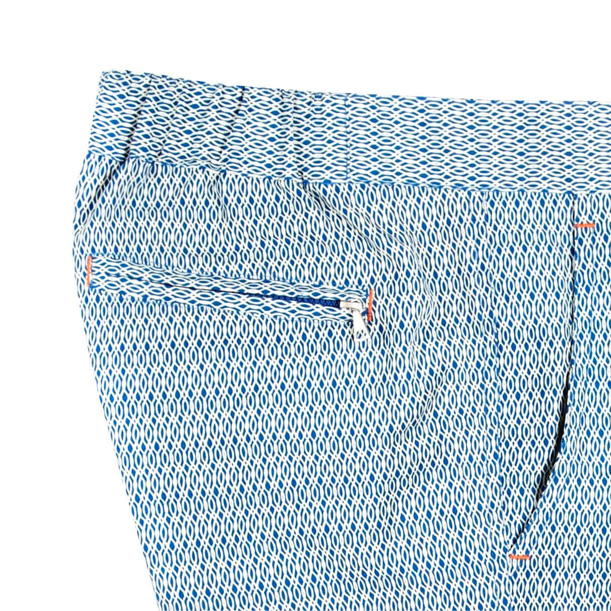 Indy Undertow Blue swim shorts detail