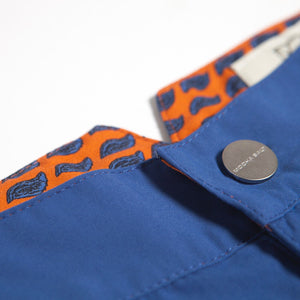 Huck 5 Ocean Blue swim shorts detail