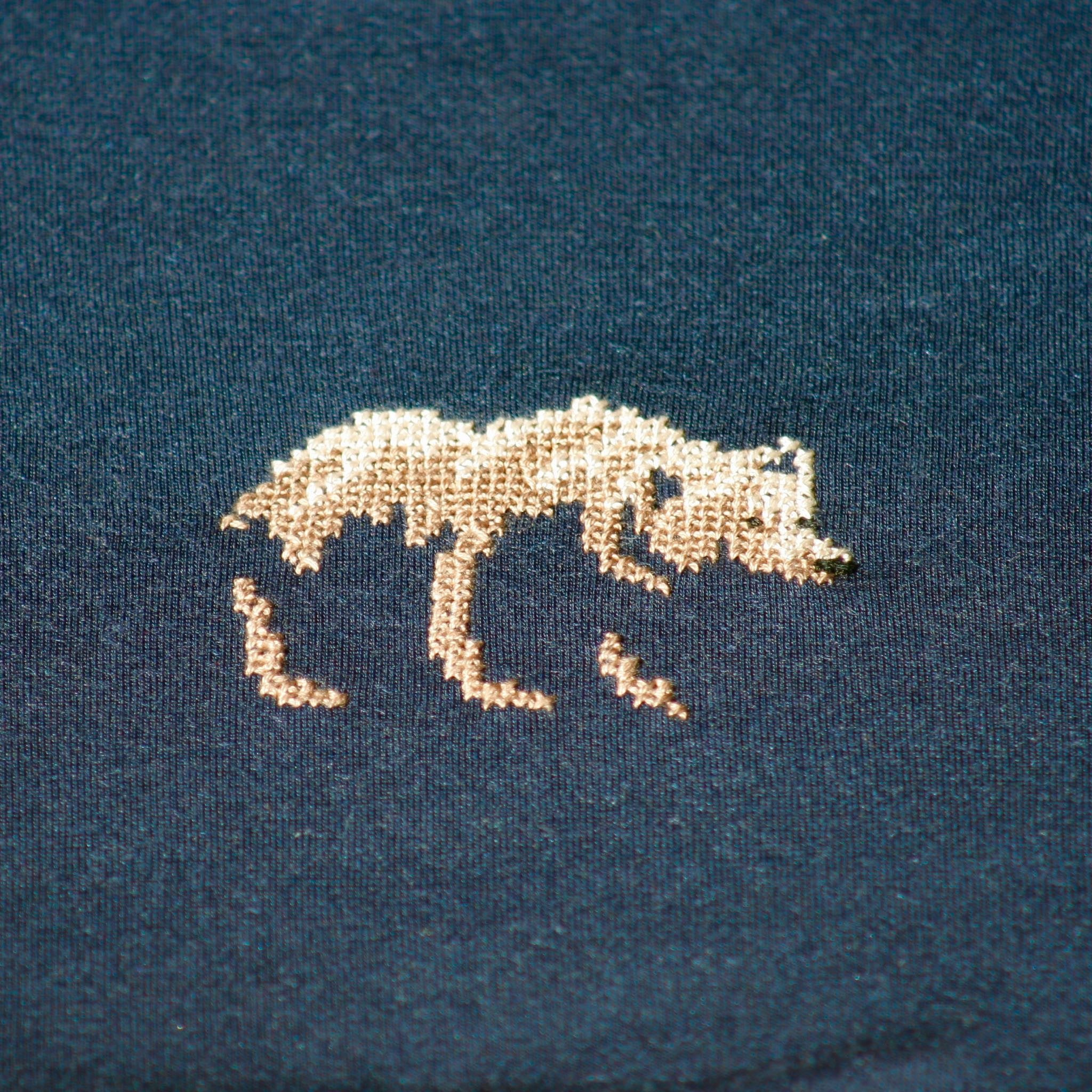 Crew Neck T-shirt Navy Bear