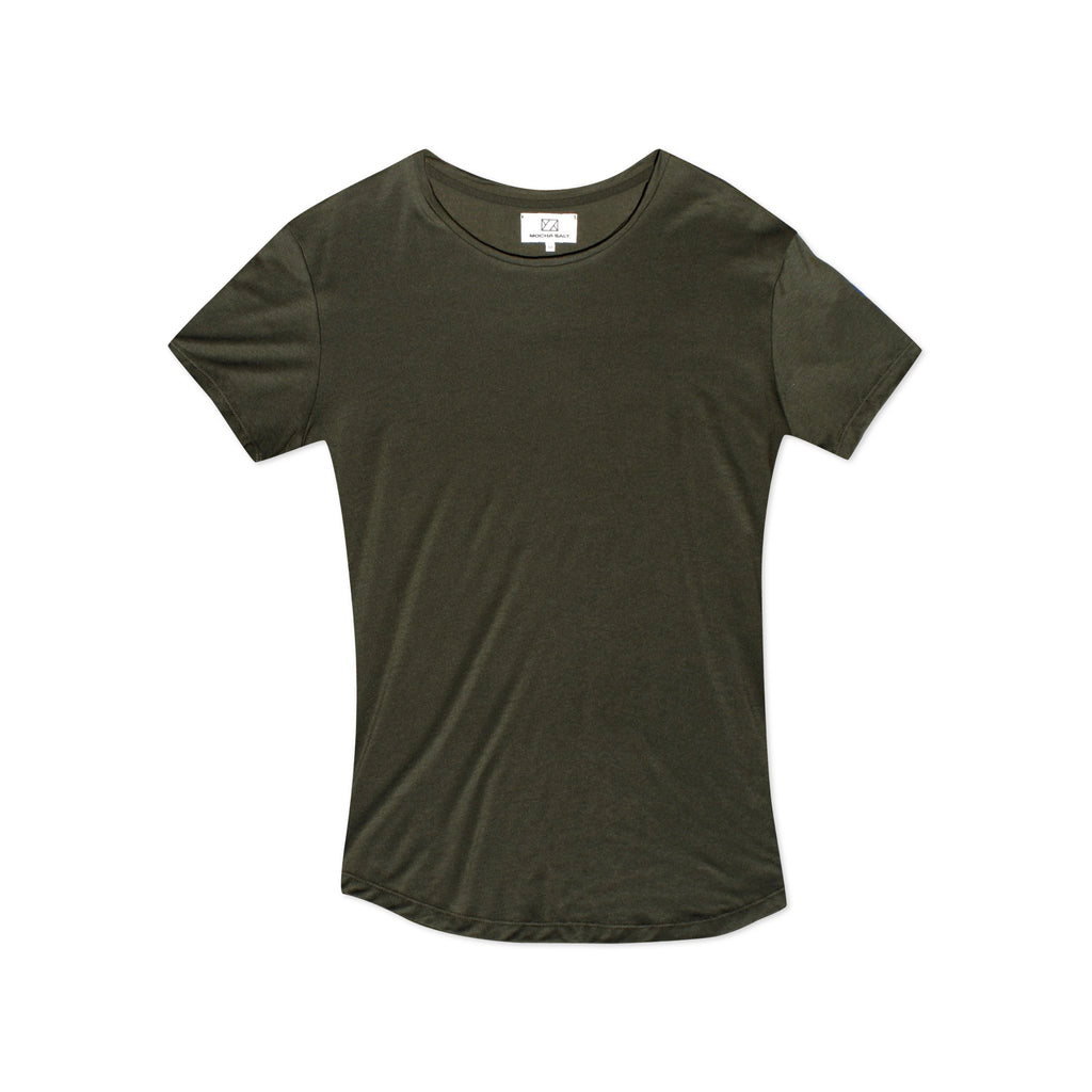 Crew Neck T-shirt Khaki Green