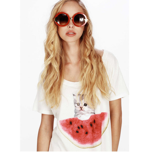 Watermelon Kitty Shirt