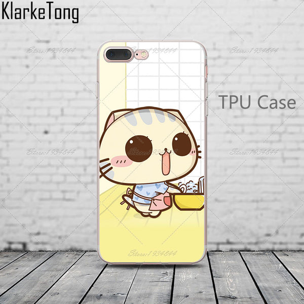 Cutey cat iPhone 6, 6s, 6s Plus, 5, 5s, 7, 7 Plus Phone cover