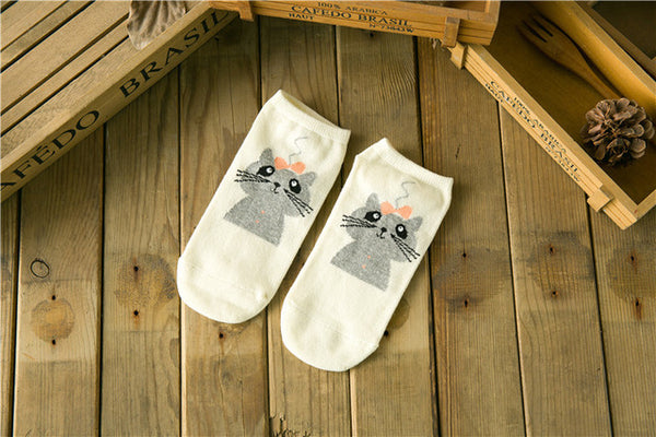 Cat ankle socks for women - one size - 10 different style to choose from