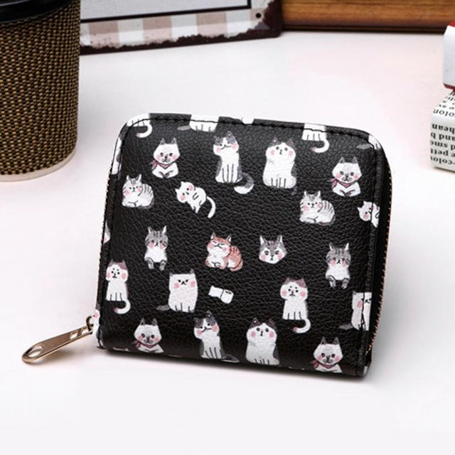 Small cat wallet with credit card holder