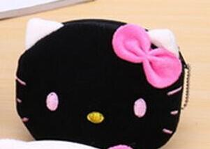 Hello Kitty face plush coin purse