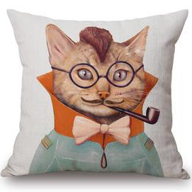 Novelty Cat Throw pillows with cushion inserts