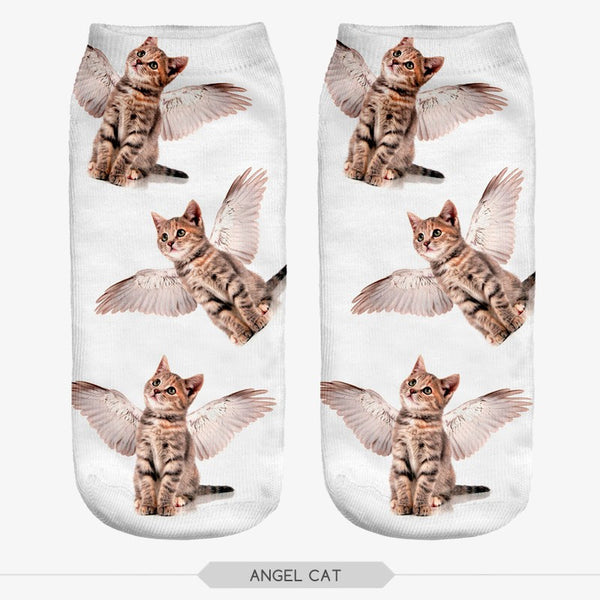 3D Pop Art Women's Low Cut Ankle Socks