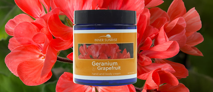 Inner Sunrise Geranium & Grapefruit Hand and Body Cream
