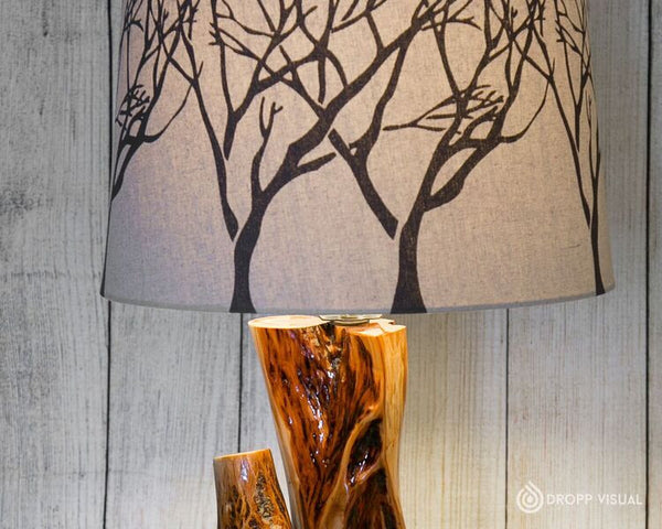 Table Lamp Diamond Willow Tiered and Single