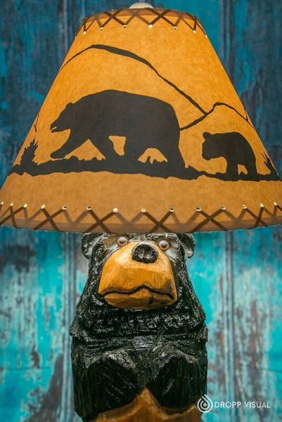 Table Lamp Chainsaw Carved Stumpy the Bear