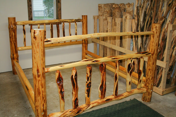 Log Bed made with Diamond Willow