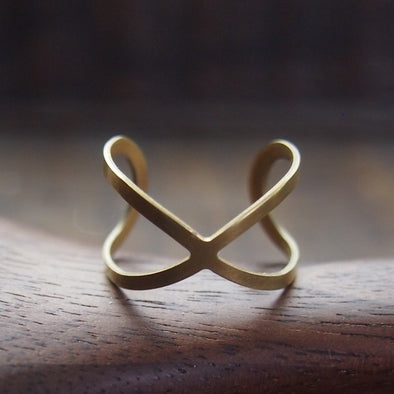 Brass infinity ring