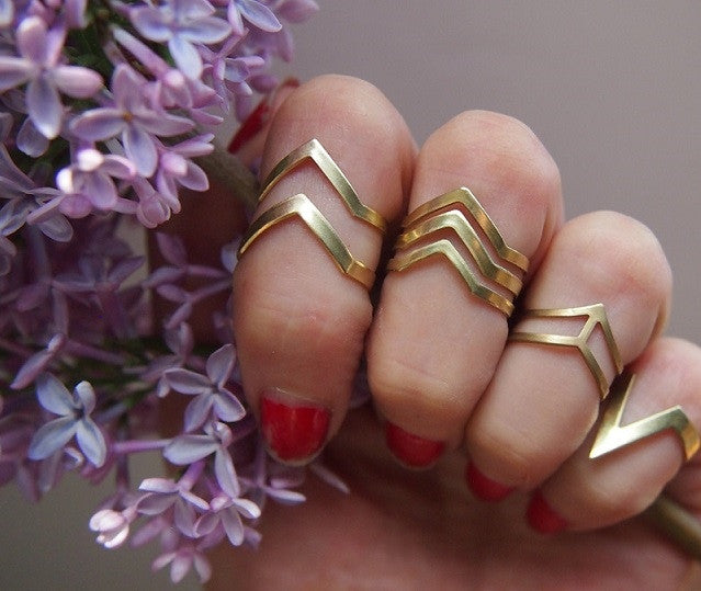 Modern brass rings
