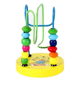 Children's Colorful Wooden Mini Around Beads Educational Toy