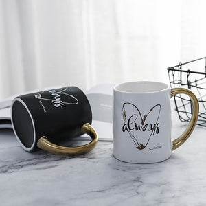 Heart Shaped Designed Porcelain Mug