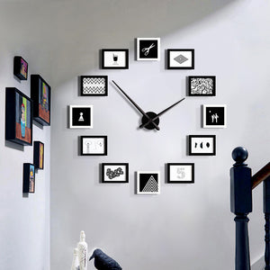 Modern Contemporary Wooden Round Indoor Outdoor Wall Clock