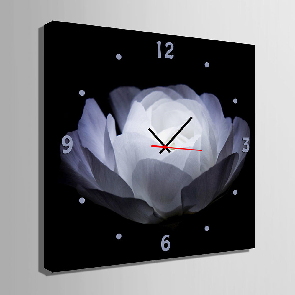 Modern Contemporary Canvas Square Indoor Wall Clock