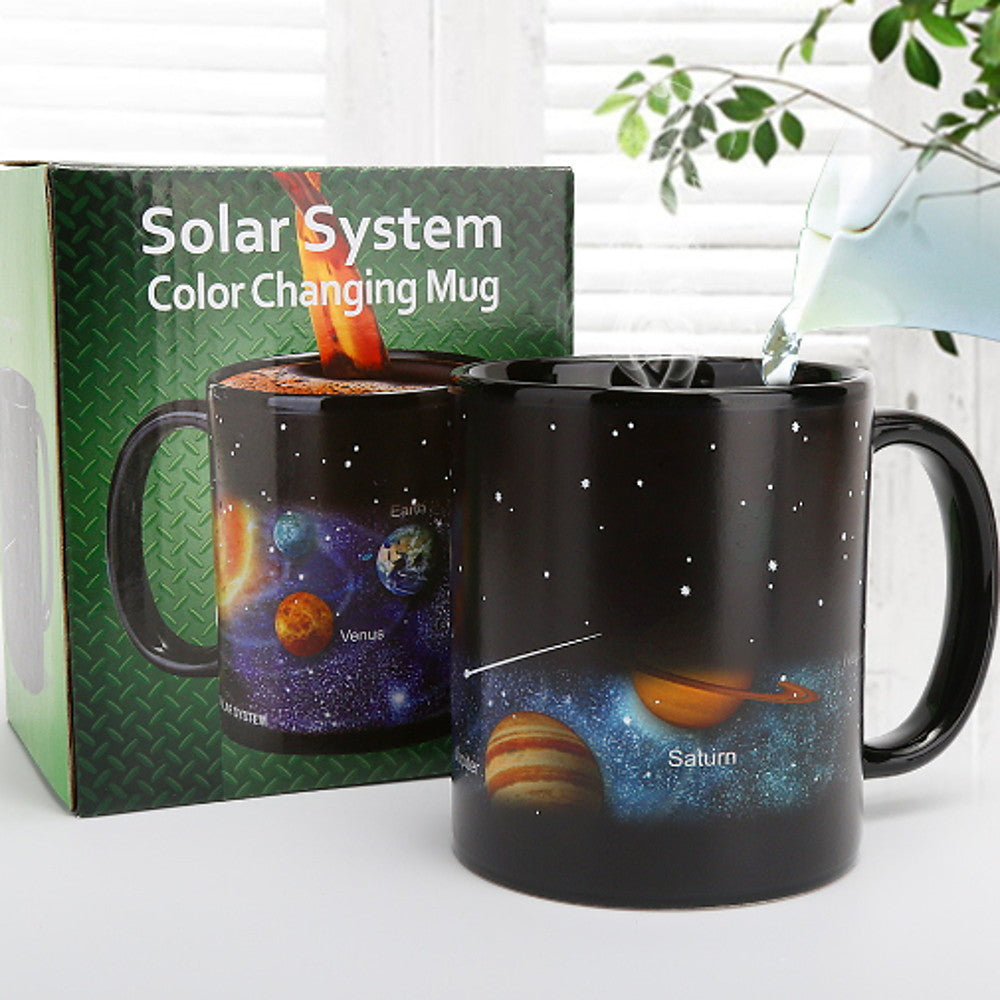 Starry Solar System Porcelain Heat Sensitive Color-Changing Mug
