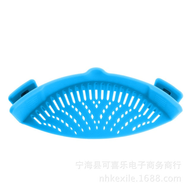 Silicone Kitchen Clip Pan Food Drainer