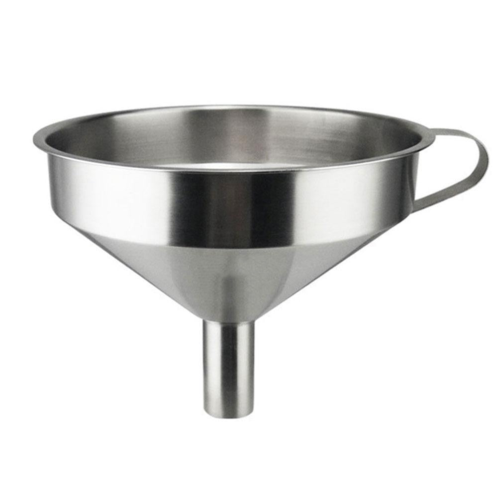 Stainless Steel Kitchen Funnel with Removable Strainer