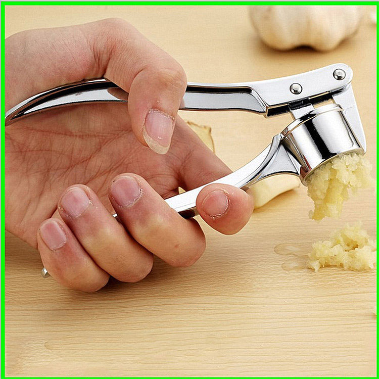 Large Stainless Steel Four-In-One Garlic Press