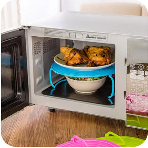 Multi-function Microwave Oven Shelf Double Insulated Heating Tray