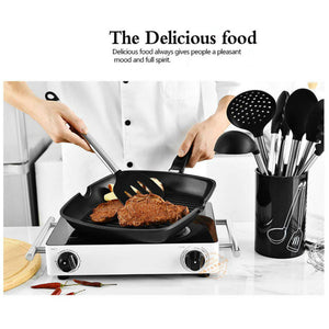 9 Pieces Silicone Kitchen Cooking Utensil Set