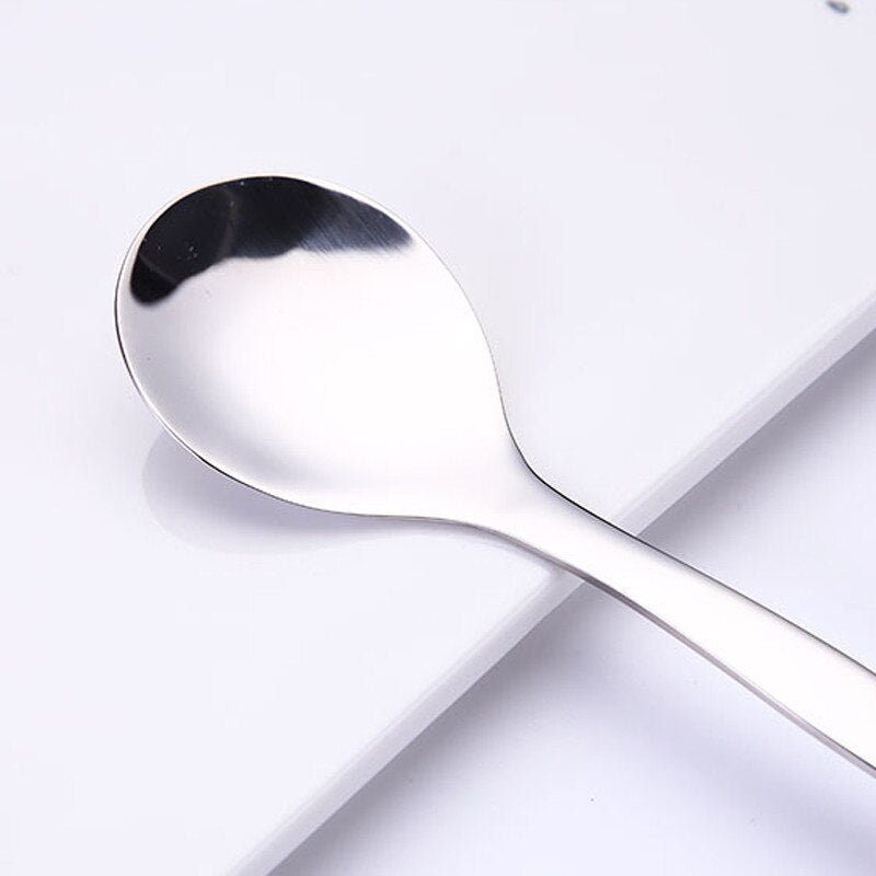 Stainless Steel Multi-functional Double Headed Mud Scraping Fruit Spoon