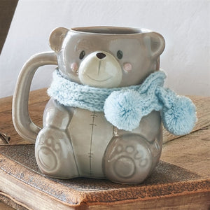 Ava Bear Cosy Mug - Scarlet Bloom
