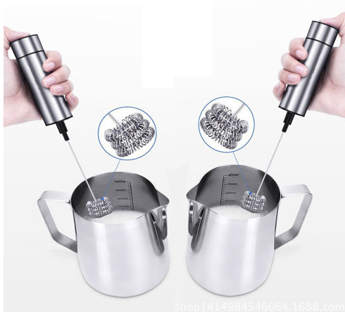 Powerful Double Spring Milk Frother Whisk