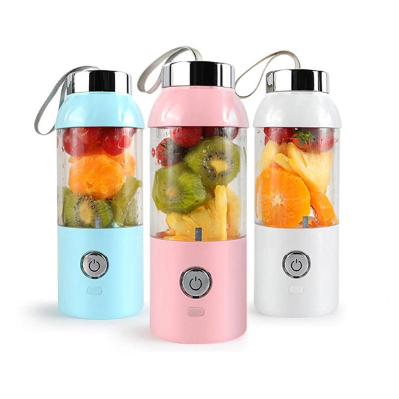 Portable Mini Fruit Juicer Machine with USB Charging 500ml