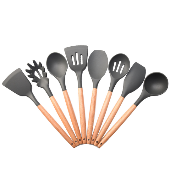 Heat-Resistant Silicone Non-Stick Kitchen Utensil Set