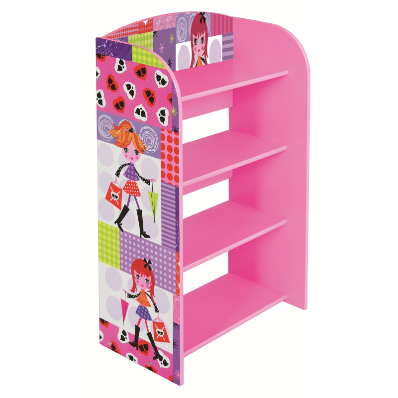 Fashion Girl 4 Tier Bookshelf - Scarlet Bloom