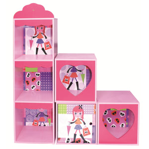 Fashion Girl Shelf and Stacking Storage Units - Scarlet Bloom
