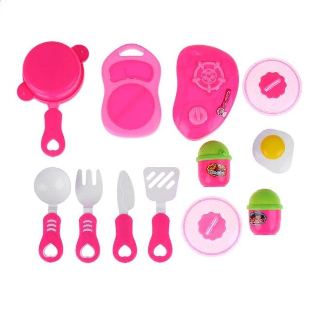 Children's Plastic Kitchen Pretend Cooking Toy Set
