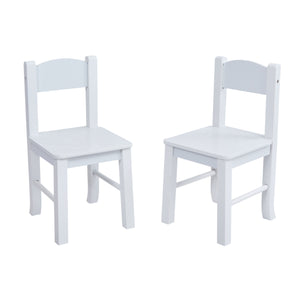 White Wooden Table and Chair Set