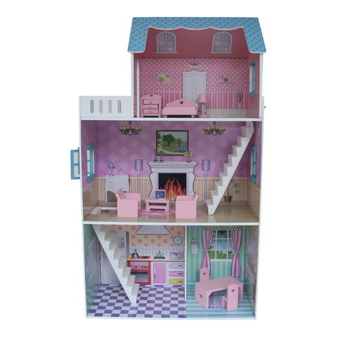 """Townhouse"" Dollhouse with Furniture - Scarlet Bloom"