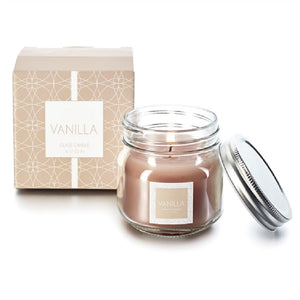Vanilla Glass Jar Candle - Scarlet Bloom