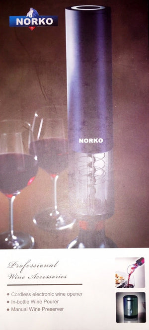 Norko Rechargeable Electric Corkscrew Gift Set - Scarlet Bloom