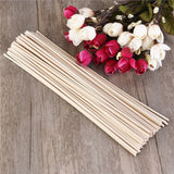 50 Piece Oil Diffuser Replacement Rattan Reed Sticks - Scarlet Bloom