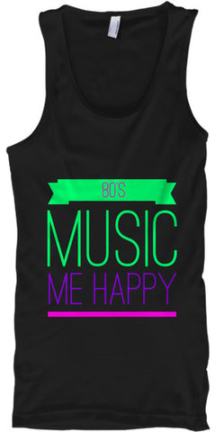 80's Music Equals Me Happy Funny - lkrseller, Tank Tops ,