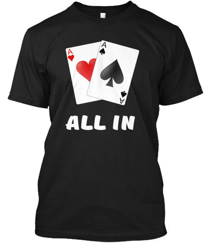 All In Aces Cards Blackjack Poker Shirts - lkrseller, Men's Shirts ,