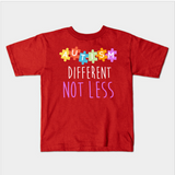 Autism Awareness Different Not Less Kids Toddler T-Shirt (Ages 1-3) - lkrseller, Kids T-Shirt ,
